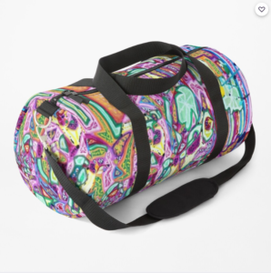 duffle bag YOU ARE WHAT YOU EAT by Jacob Wayne Bryner artJWB